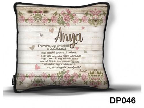(DP046) Díszpárna 26 cm x 26 cm - Anya köszönöm – Anyák Napi Ajándékok – Ajándék Anyáknak