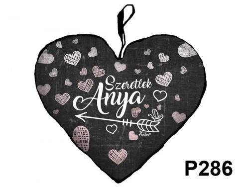 (P286) Kicsi Szív Párna  25 cm x 21 cm - Szeretlek Anya – Ajándék Anyáknak - Anyák Napi Ajándékok
