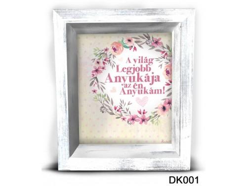(DK001) 3D Képkeret 16,5 cm x 19,5 cm - A világ legjobb anyukája – Ajándék Anyáknak