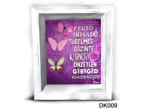 (DK009) 3D Képkeret 16,5 cm x 19,5 cm - Édesanya féltő –  Ajándék Anyáknak