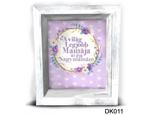 (DK011) 3D Képkeret 16,5 cm x 19,5 cm - A világ legjobb mamája - Ajándék Nagymamáknak
