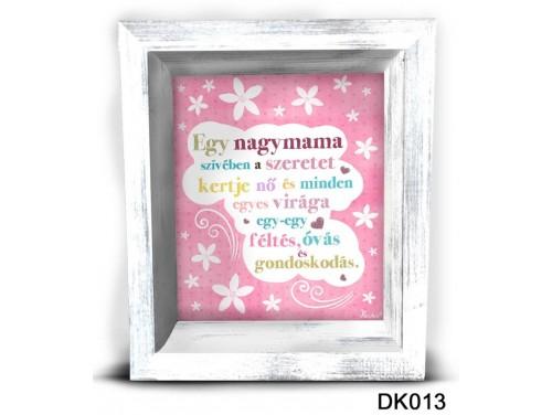 (DK013) 3D Képkeret 16,5 cm x 19,5 cm - Egy nagymama szívében – Ajándék Nagymamáknak