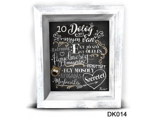 (DK014) 3D Képkeret 16,5 cm x 19,5 cm - 10 dolog, ami ingyen van – Dekorációs ötletek