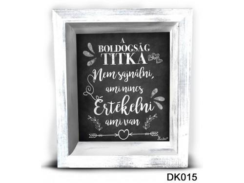 (DK015) 3D Képkeret 16,5 cm x 19,5 cm - A boldogság titka – Dekorációs ötletek