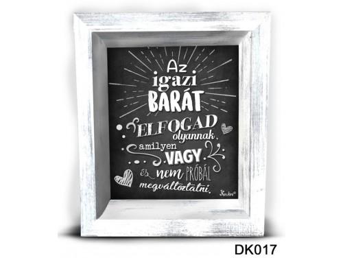 (DK017) 3D Képkeret 16,5 cm x 19,5 cm - Az igazi barát  – Ajándék Legjobb Barátnak