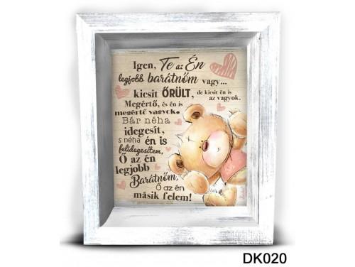 (DK020) 3D Képkeret 16,5 cm x 19,5 cm - Legjobb Barátnő – Dekorációs ötletek