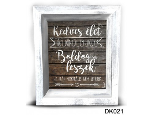 (DK021) 3D Képkeret 16,5 cm x 19,5 cm - Kedves Élet – Dekorációs ötletek