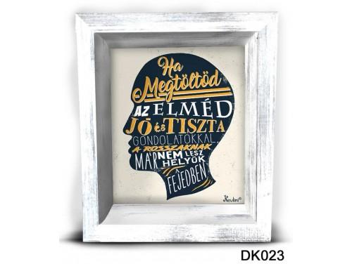 (DK023) 3D Képkeret 16,5 cm x 19,5 cm - Ha megtöltöd az elméd – Dekorációs ötletek