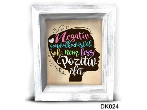 (DK024) 3D Képkeret 16,5 cm x 19,5 cm - Pozitív élet – Dekorációs ötletek
