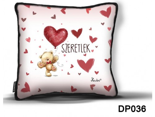 (DP036) Díszpárna 26 cm x 26 cm - Nem vagy egyedül - Szerelmes ajándékok - Valentin napi ajándék
