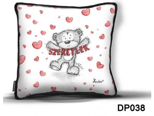 (DP038) Díszpárna 26 cm x 26 cm - Szeretlek feliratos Nevlini - Szerelmes ajándékok - Valentin napi ajándékok