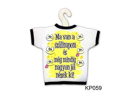 (KP059) Üvegpóló 13 cm x 18 cm - Ma van a szülinapom - Születésnapi ajándékok - Ajándék ötletek
