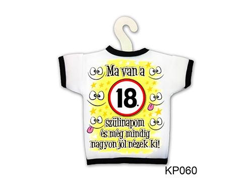 (KP060) Üvegpóló 13 cm x 18 cm - Ma van a 18. szülinapom - Születésnapi ajándékok - Ajándék ötletek