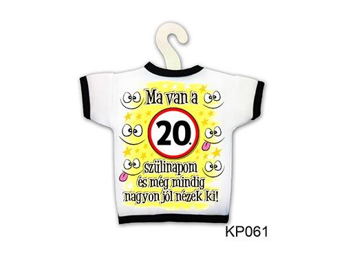 (KP061) Üvegpóló 13 cm x 18 cm - Ma van a 20. szülinapom - Születésnapi ajándékok - Ajándék ötletek