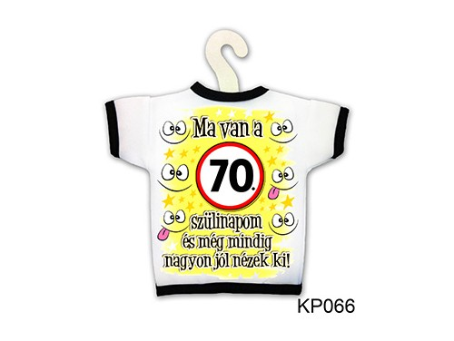 (KP066) Üvegpóló 13 cm x 18 cm - Ma van a 70. szülinapom - Születésnapi ajándékok - Ajándék ötletek