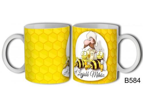 (B584) Bögre 3 dl - Legjobb Méhész - Ajándék Méhésznek