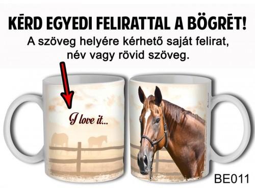 (BE011) Bögre 3 dl - Barna ló - Egyedi Ajándék - Egyedi Feliratos Bögre