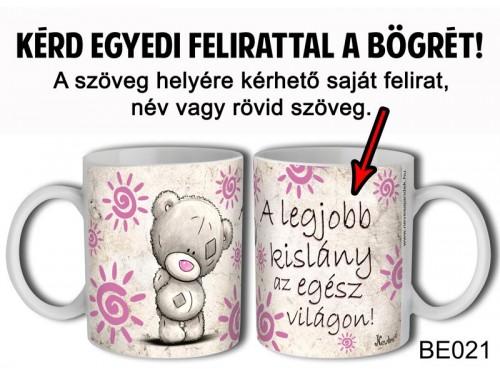 (BE021) Bögre 3 dl - Macis Rózsaszín - Egyedi Ajándék - Egyedi Feliratos Bögre