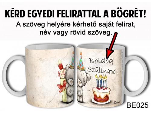 (BE025) Bögre 3 dl - Macis tortás - Egyedi Ajándék - Egyedi Feliratos Bögre