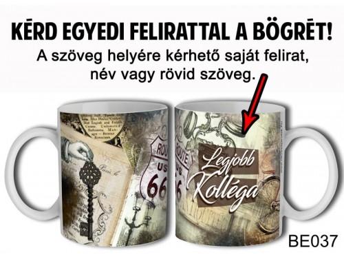 (BE037) Bögre 3 dl - Vintage 1 - Egyedi Ajándék - Egyedi Feliratos Bögre