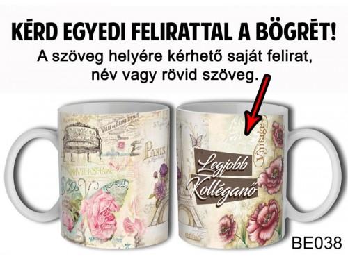 (BE038) Bögre 3 dl - Vintage Női - Egyedi Ajándék - Egyedi Feliratos Bögre