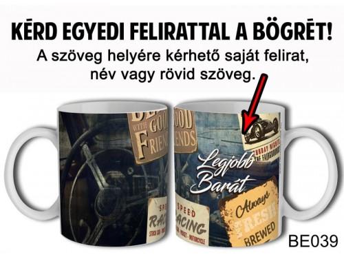 (BE039) Bögre 3 dl - Vintage Férfi 2 - Egyedi Ajándék - Egyedi Feliratos Bögre