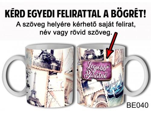 (BE040) Bögre 3 dl - Vintage Női 2- Egyedi Ajándék - Egyedi Feliratos Bögre