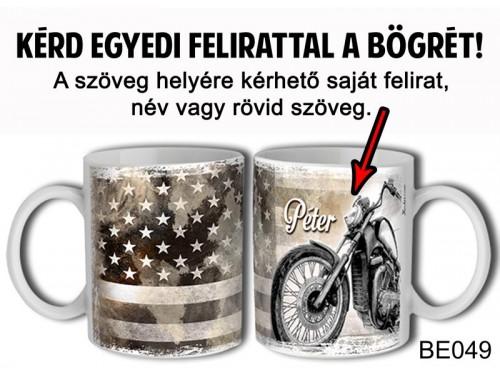 (BE049) Bögre 3 dl - Mocis amerikai - Egyedi Ajándék - Egyedi Feliratos Bögre