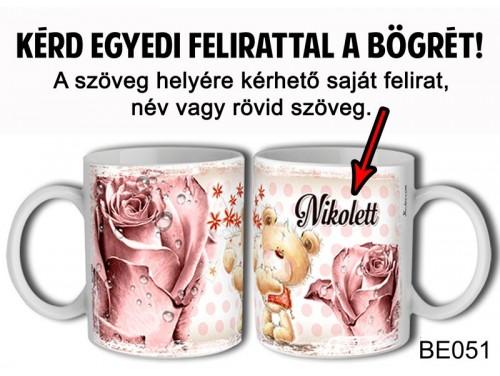 (BE051) Bögre 3 dl - Macis Virágos - Egyedi Ajándék - Egyedi Feliratos Bögre
