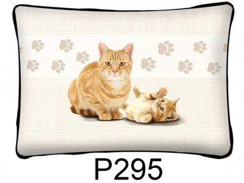 (P295) Párna 37 cm x 27 cm - Vörös macska - Macskás ajándékok