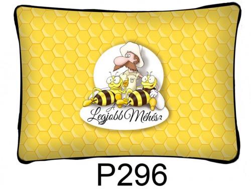 (P296) Párna 37 cm x 27 cm - Legjobb méhész - Ajándék méhészeknek