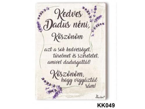 (KK049) Falikép 20 cm x 15 cm - Kedves Dadus - Ajándék Ötletek Dadusoknak