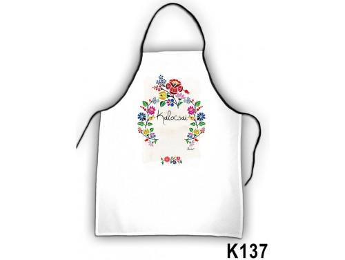 (K137) Kötény 50 cm x 70 cm - Kalocsai - Kalocsai mintás ajándékok