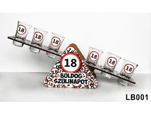 (LB001) Libikóka 30 cm x 9,5 cm - 18 Boldog Szülinapot - Szülinapi ajándékok - Ajándék ötletek születésnapra