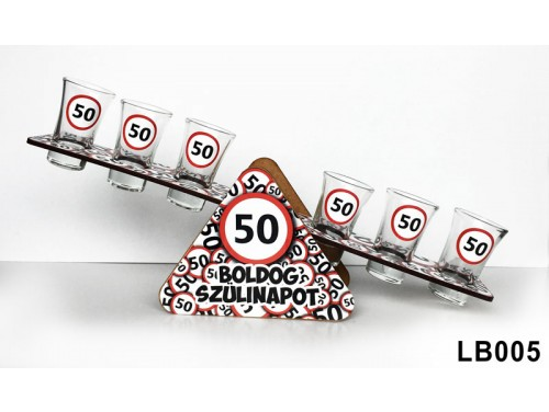 (LB005) Libikóka 30 cm x 9,5 cm - 50 Boldog Szülinapot - Szülinapi ajándékok - Ivós ajándék ötletek
