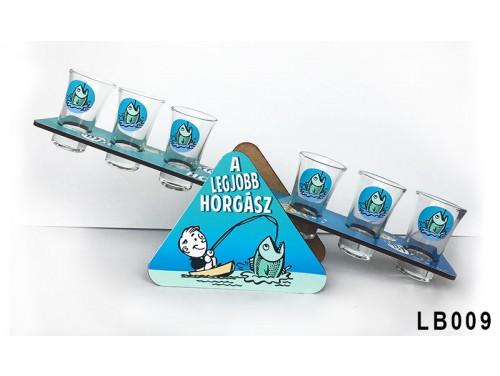 (LB009) Libikóka 30 cm x 9,5 cm - A legjobb horgász - Ajándék Horgászoknak