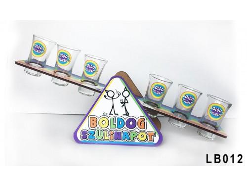 (LB012) Libikóka 30 cm x 9,5 cm - Boldog Szülinapot - Szülinapi ajándékok - Ivós ajándék ötletek
