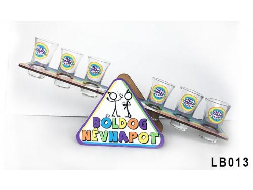 (LB013) Libikóka 30 cm x 9,5 cm - Boldog Névnapot - Névnapi ajándékok - Ivós ajándék ötletek