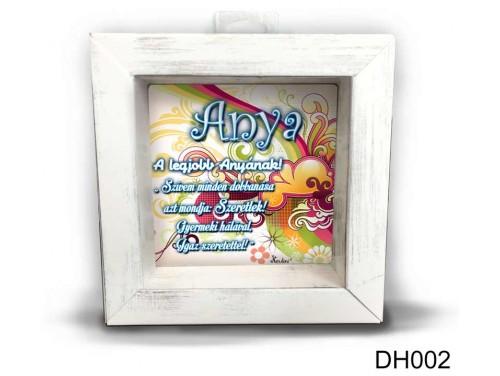 (DH002) Kicsi 3D Képkeret 11,2 cm x 11, 2 cm - A legjobb anyának - Anyák napi ajándékok - Ajándék anyának