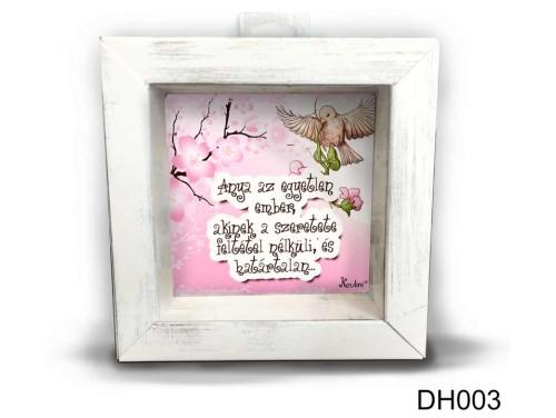 (DH003) Kicsi 3D Képkeret 11,2 cm x 11, 2 cm - Anya az egyetlen - Anyák Napi Ajándékok - Ajándék Anyáknak
