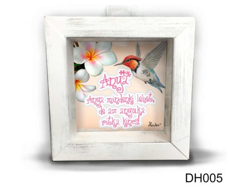 (DH005) Kicsi 3D Képkeret 11,2 cm x 11, 2 cm - Anya mindeki lehet - Ajándék Anyáknak - Anyák Napi Ajándékok