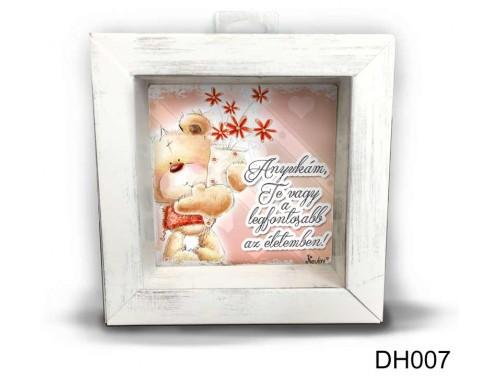 (DH007) Kicsi 3D Képkeret 11,2 cm x 11, 2 cm - Anyukám Te vagy - Ajándék Anyáknak - Anyák napi ajándékok