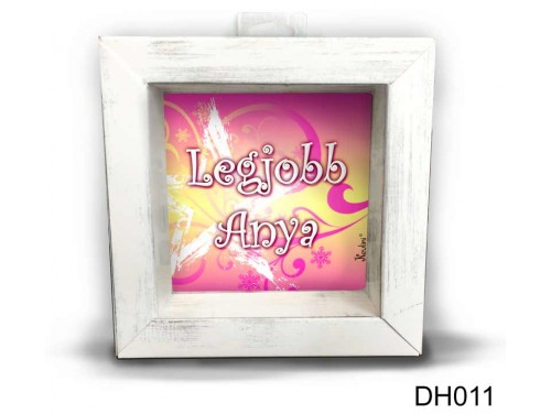 (DH011) Kicsi 3D Képkeret 11,2 cm x 11, 2 cm - Legjobb Anya - Ajándék Anyáknak - Anyák Napi ajándékok