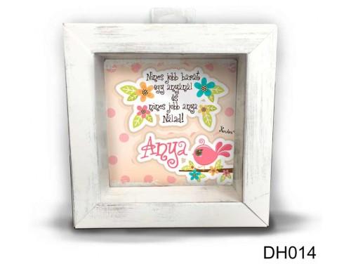 (DH014) Kicsi 3D Képkeret 11,2 cm x 11, 2 cm - Nincs jobb barát - Anyák Napi ajándékok - Ajándékok Anyukáknak
