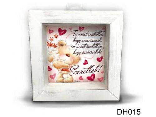 (DH015) Kicsi 3D Képkeret 11,2 cm x 11, 2 cm - Te azért születtél - Szerelmes ajándékok - Valentin napi ajándékok