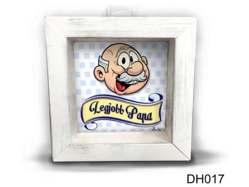 (DH017) Kicsi 3D Képkeret 11,2 cm x 11, 2 cm - Legjobb Papa - Ajándék Papáknak - Ajándék Nagyszülőknek