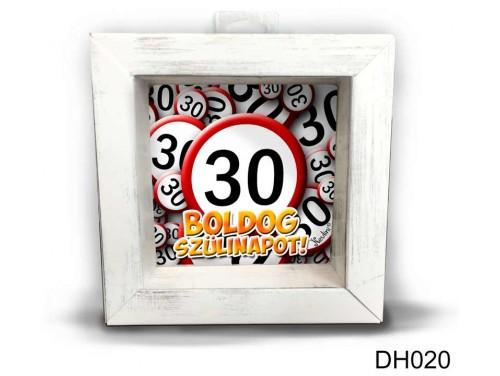(DH020) Kicsi 3D Képkeret 11,2 cm x 11, 2 cm - Boldog 30 Szülinapot - Szülinapi ajándékok - Születésnapi Ajándék Ötletek