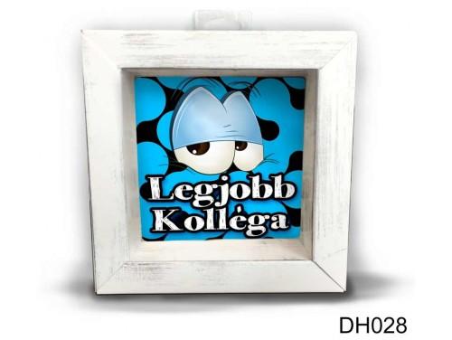 (DH028) Kicsi 3D Képkeret 11,2 cm x 11, 2 cm - Legjobb kolléga - Ajándék kollégának