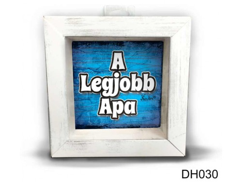 (DH030) Kicsi 3D Képkeret 11,2 cm x 11, 2 cm - Legjobb Apa - Ajándék Apák napjára - Ajándék Apáknak