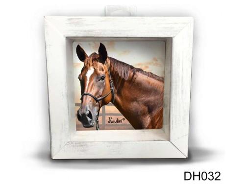 (DH032) Kicsi 3D Képkeret 11,2 cm x 11, 2 cm - Barna ló - Lovas ajándék ötletek